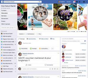 Groupe Facebook Club Naturo'Santé