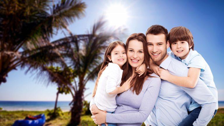Famille heureuse et en bonne santé